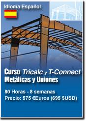 Curso TRICALC EA, Estructuras metálicas y TConnect